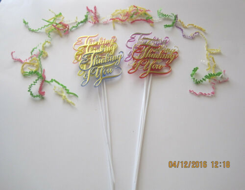 Floral Picks  THINKING OF YOU Assorted Colors Pk//6!
