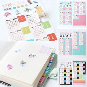 2x-2018-Calendar-Divider-Tab-Sticker-Planner-Bullet-Journal-Category-Decor-DIY