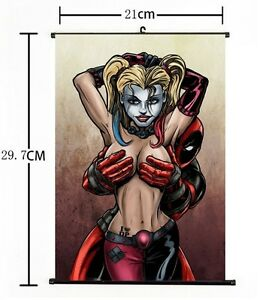 Image Is Loading Hot Dc Anime Suicide Squad Harley Quinn Deadpool