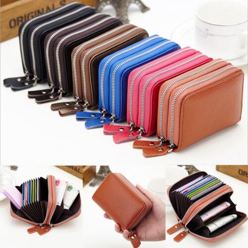Womens Leather Small Wallet Credit Card Holder Zipper Coin Purse Clutch Handbag