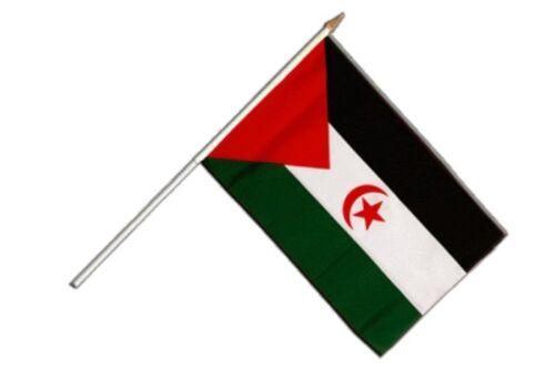 SAHARA OCCIDENTAL Bâton Drapeau Drapeaux Drapeaux Stock drapeau 30x45cm