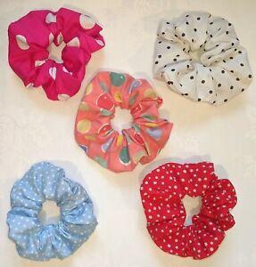 1 X Handmade Pois Dots Coton Hair Scrunchies Bandeaux Accessoires Scrunchy Bande-afficher Le Titre D'origine Dessins Attrayants;
