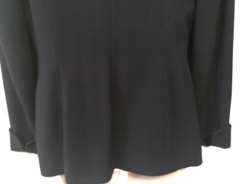 Ryb Cuffs Suit France Navy Van Irene French Skirt Eccellente Herringbone Wool 40 ZMqawBExvx