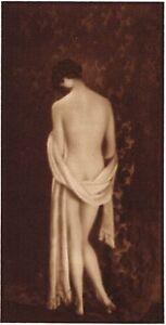 1920s-Vintage-Irish-Female-Nude-Model-Hoppe-Art-Deco-Photo-Gravure-Print