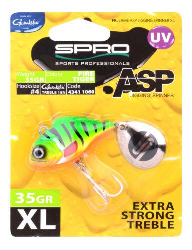 Spro ASP Spinner XL UV 35g Firetiger Perch  Redhead Crazy Roach Cat Baitfisch