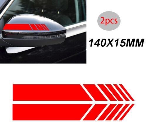 2x Red Arrow Reflective Waterproof Sticker Decal Racing Stripe Graphics HK K