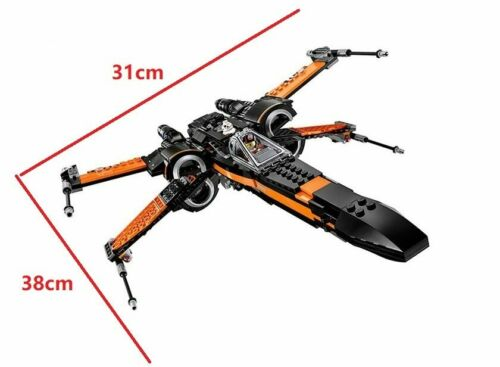 Star fighter Building Blocks Model First Order Poe/'s Wing Fighter Wars Toys-Pres