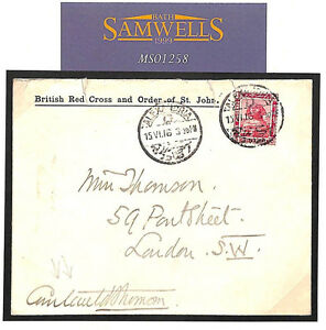 MS1258 1916 WW1 EGYPT *British Red Cross* Stationery E Signed*Courtauld Thomson*
