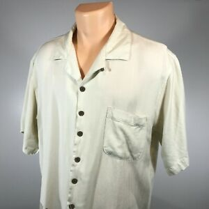 Tommy-Bahama-L-Mens-Hawaiian-Shirt-Size-Large-100-Silk-Short-Sleeve