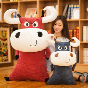 Cow Plush Pillow Toy Giant Soft Stuffed Milk Cow 47in Anime Animal