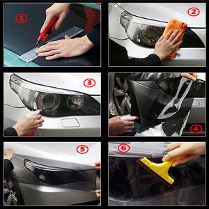 Tint Headlight Taillight Fog Light Vinyl Smoke Film Sheet Dark Black 30*60cm Hot