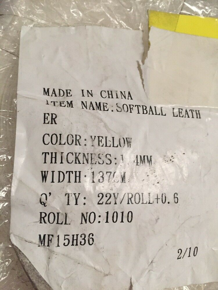 1 Roll Gelb Of Synthetic Gelb Roll Leder, Softball Baseball Covering, 23 Yards/Roll 9cc13e