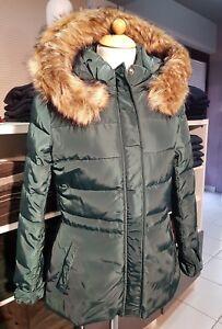 quality design 7def3 4c1b0 Dettagli su Giubbotto piumino con cappuccio verde modello PEARL KOCCA  Taglia L