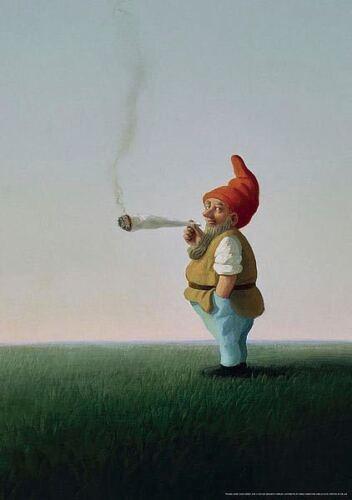 Joint-Zwerg Dwarf with Joint Michael Sowa Fantasy Art Print 17x24
