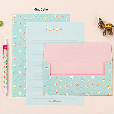 Cute Lovely Ardium Pattern Letter set -4sh writing stationery paper 2sh envelope