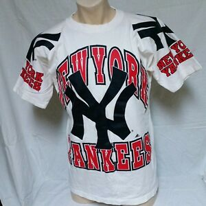 17a1b3f292b VTG 90s New York Yankees T Shirt All Over Print Tee Apex One MLB ...