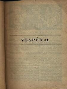 Vente Professionnelle Vesperal Aa.vv. \ 1923 Pour AméLiorer La Circulation Sanguine