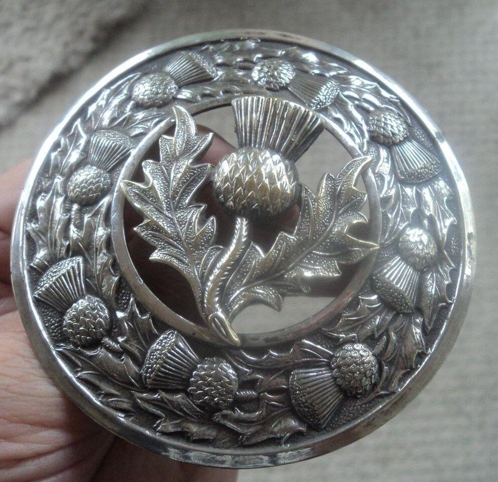 Molto grande scozzese mizpah Cardo Spilla c.1930 50s 50s 50s fcc038