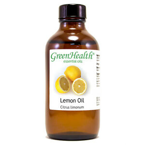4-fl-oz-Lemon-Essential-Oil-100-Pure-amp-Natural-GreenHealth