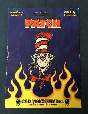 NEW UNUSED Seuss/' The Cat In The Hat Animated TV Show Hat Embroidered Patch Dr