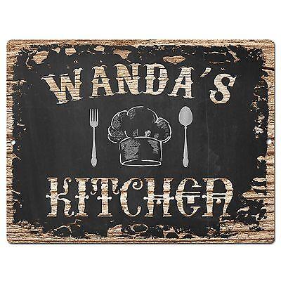 PP1776 WANDA/'S KITCHEN Plate Chic Sign Home Kitchen Decor Birthday Gift