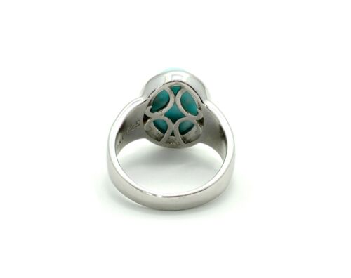 Larimar Beautiful 10X14mm 6.5ct Natural Solid .925 Sterling Silver Ring Size 7