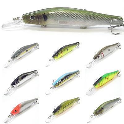 wLure 5 1/4 inch 2/3 oz Minnow Crankbait Jerkbait Floating Fishing Lures M629