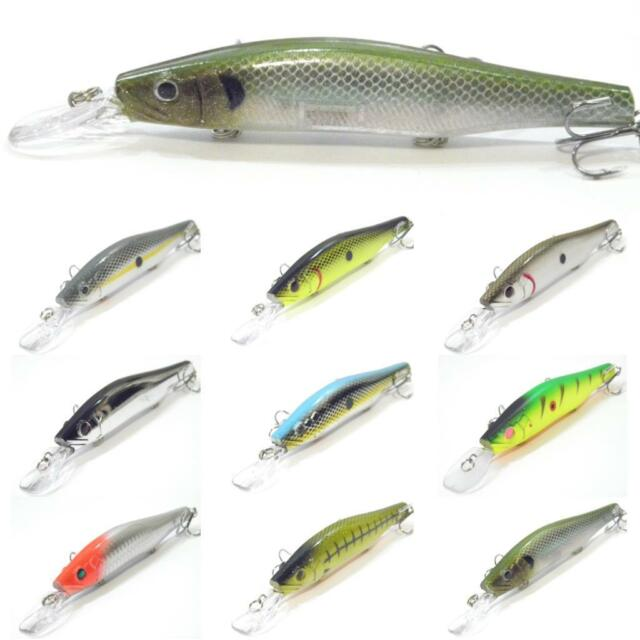 wLure 5 1/4 inch 2/3 oz Minnow Crankbait Jerkbait Floating Fishing Lures M629