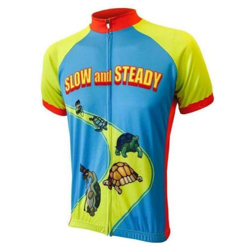 Slow and Steady Wins The Race Funny Cycling Jersey