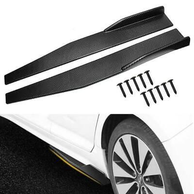 """Universal Black Car side Skirt Rocker Splitters Diffuser Winglet Wind 31/"""" x 4/"""""""