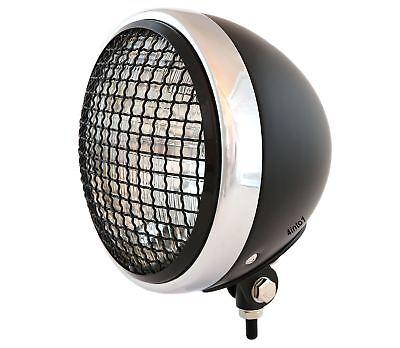 "7/"" Bottom Mount Motorcycle Headlight Spotlight w// Grill Black Chrome"
