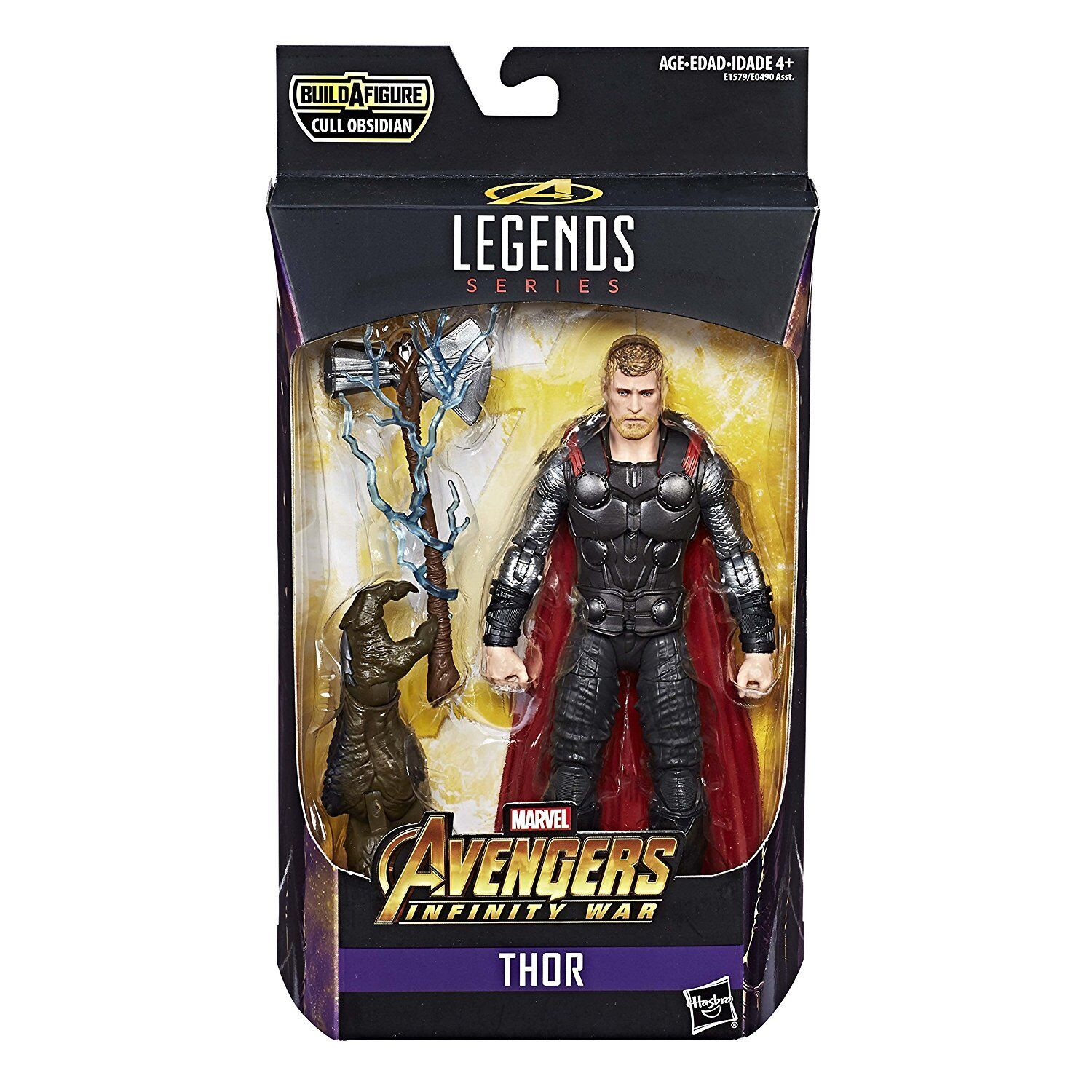 MARVEL LEGENDS AVENGERS INFINITY WAR THOR WITH STORMBREAKER BAF CULL OBSIDIAN