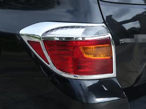 ABS Chrome Rear Tail Fog Light Lamp Cover trim For Toyota Highlander 2008-2010