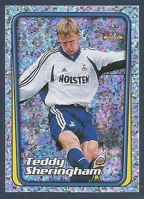 #225-TOTTENHAM HOTSPUR-TEDDY SHERINGHAM-FOIL MERLIN-2002-F.A.PREMIER LEAGUE