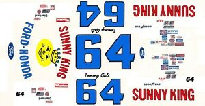 Sunny King Ford >> 64 Tommy Gale Sunny King Ford 1 25th 1 24th Scale Waterslide