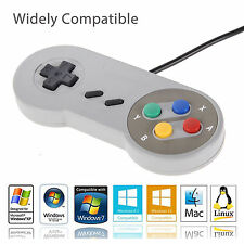2 x SNES USB Controller For PC/Mac Super Nintendo Games Retro Classic Gamepad US