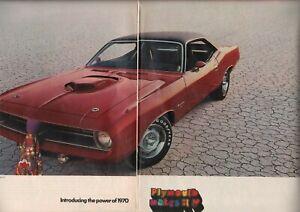 1970-Plymouth-Hemi-039-Cuda-w-426-CID-Engine-2-Page-Vintage-Car-Ad