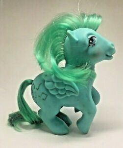MLP-My-Little-Pony-Medley-1983-Blue-and-Green-Sparkly-Music-Note-Vintage-G1