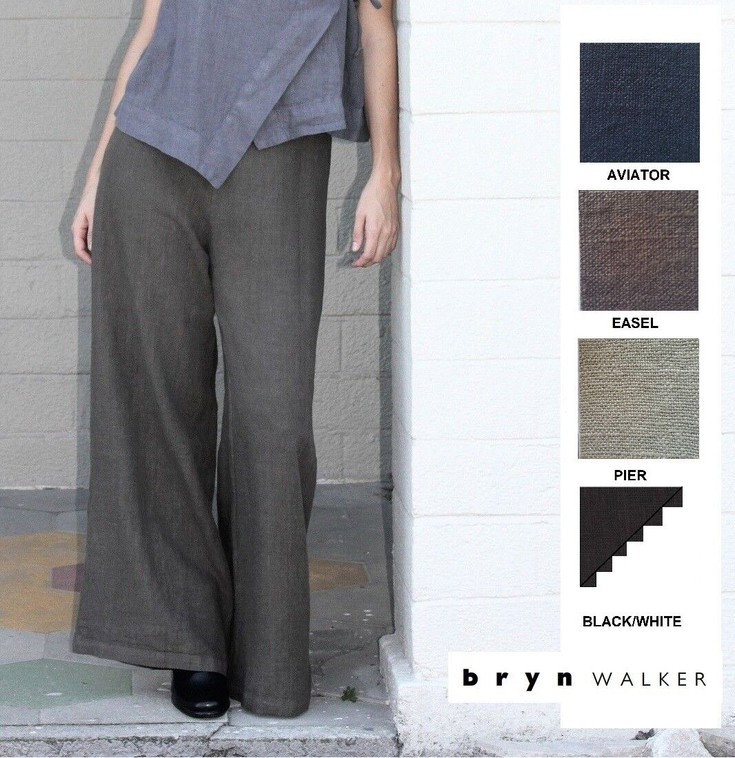 BRYN WALKER Light Linen  LONG FULL PANT  Wide Palazzo Pants 1X 2X 3X SPRING 2018
