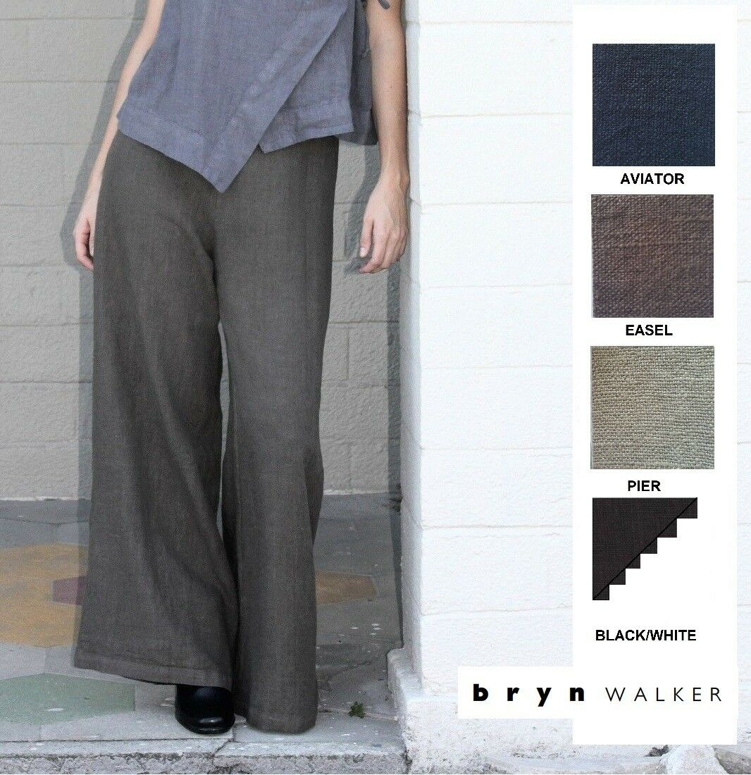 BRYN WALKER Light Linen LONG FULL PANT Wide Palazzo Pants X S M L XL SPRING 2018