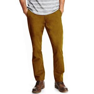 Marks and Spencer Dark-Kkaki Pur Coton Pantalon Chino Pantalon