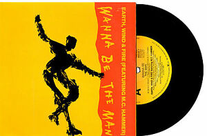 EARTH-WIND-amp-FIRE-MC-HAMMER-WANNA-BE-THE-MAN-7-034-45-RECORD-PIC-SLV-1990