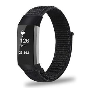 For-Fitbit-Charge-3-Watch-Soft-Nylon-Sport-Loop-Replacement-Strap-Wrist-Bands