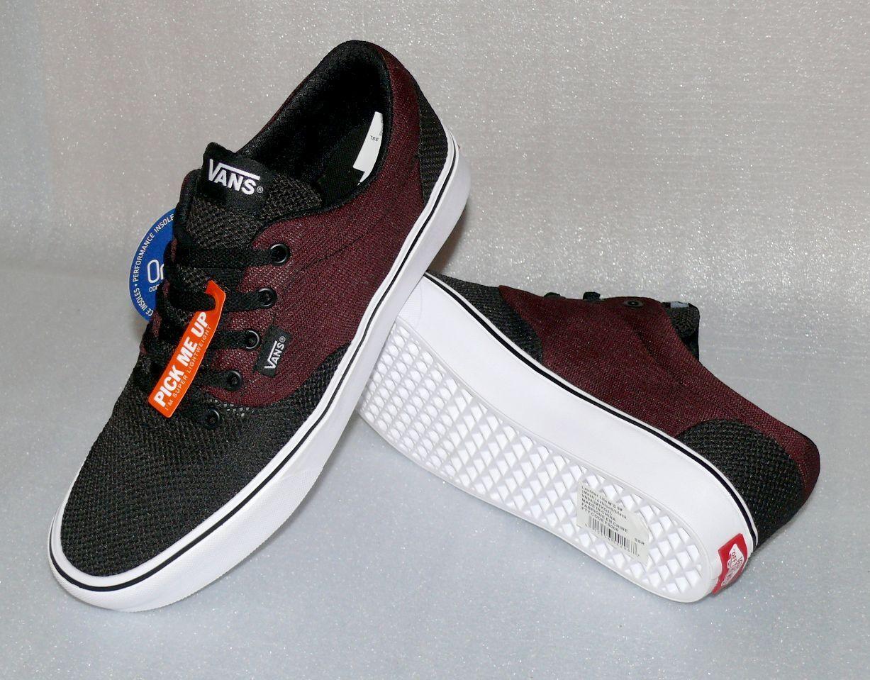 Vans Lautner Lite Herren Schuhe Freizeit Sneaker 42 US9 Black Weiß Bordo Ortholi