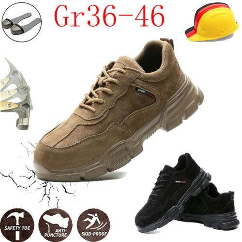 Sicherheitsschuhe S3 Arbeitsschuhe Stahlkappe Atmungsaktiv Sportlich Gr36-46 DE