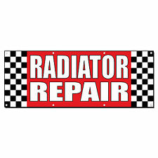 Radiator Repair Auto Body Shop Car Repair Banner Sign 2 Ft X 4 Ft W 4 Grommets