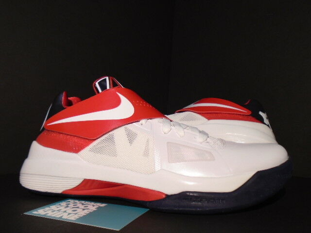 Nike Zoom KEVIN DURANT KD IV 4 USA OLYMPIC blanc OBSIDIAN Bleu rouge 473679-103 9