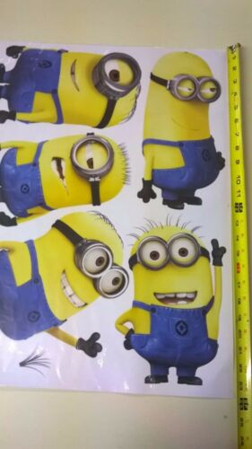 Wall Art Sticker Two Minion Piece Set Despicable Me Minion Wall Decal for Kids
