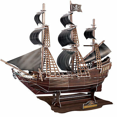 3D Cardboard Puzzle Large The Black Pearl Pirate Ship 104 Piece 3D Jigsaw NSW Au