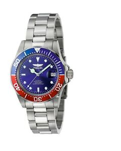 Invicta-Men-039-s-Watch-Pro-Diver-Blue-Dial-Automatic-Stainless-Steel-Bracelet-5053